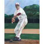 Baseball Player Painting